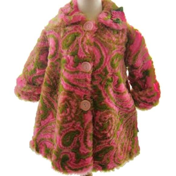 88b665675385 Corky and Company Jackets & Coats | Faux Fur Swing Coat Girls 4t ...